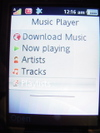 Music player on K800i