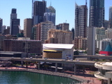 View of city from Novotel, Darling harbour, Sydney, Australia